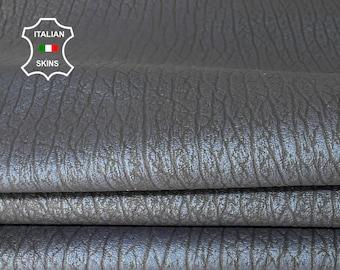 ELEPHANT GRAINY PEARLIZED blue black soft Italian lambskin sheep leather skin skins hide hides 6sqf 0.7mm #A8067