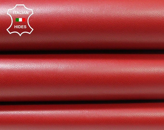 RED Italian Lambskin Lamb Sheep leather material for sewing skin hide skins hides 0.9mm #A4542
