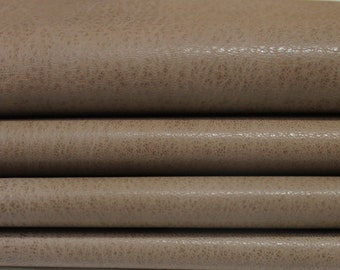 WASHED WALNUT BROWN Rustic Vegetable Italian genuine Goatskin Goat leather skins hides 0.5mm to 1.2mm
