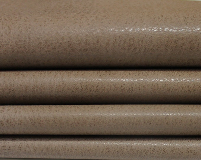 WASHED WALNUT BROWN Rustic Vegetable Italian genuine Goatskin Goat leather skins hides 0.5mm to 1.5mm