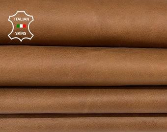 NATURAL BROWN ANTIQUED vegetable tan Italian goatskin goat leather pack 2 skins total 12sqf 1.0mm #A8435