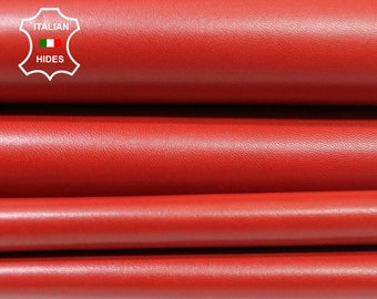 RED Italian Lambskin Lamb Sheep leather material for sewing 2 skins hides total 8sqf 0.8mm #A4543