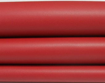 RED smooth Italian genuine Lambskin Lamb Sheep leather skins hides 0.5mm to 1.2mm