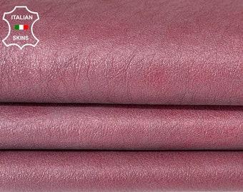 WINE DISTRESSED vintage look soft Italian lambskin sheep leather skin skins hide hides 7sqf 1.0.mm #A8118