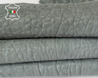 NATURAL GREY BUBBLY vegetable tan thick Italian lambskin lamb sheep leather hide hides skin skins 4sqf 1.8mm #A8148