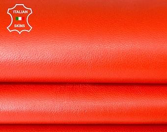 ORANGE SOFT Italian lambskin Lamb sheep leather hide hides skin skins 6sqf 0.7mm #A8126