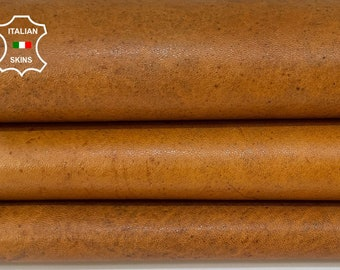 TAN BROWN vegetable tan soft Italian goatskin goat leather skin skins hide hides 5+sqf 1.1mm #A8440