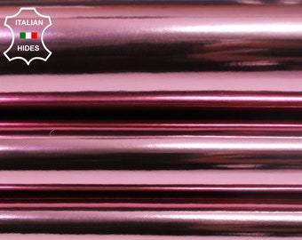 METALLIC PINK STRONG smooth Italian Goatskin Goat genuine leather 2 skins hides total 8sqf 0.9mm