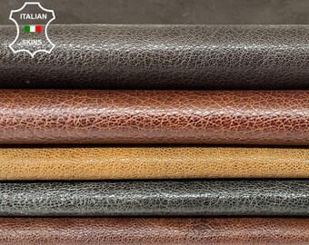 BROWN PACK 5 DIFFERENT shades shiny antiqued rough vegetable tan Italian goatskin goat leather pack 5 skins total 25sqf 0.8-1.0mm #A8449