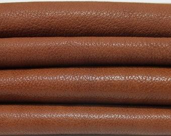 COGNAC BROWN ROUGH vegetable tan Italian genuine Goatskin Goat leather skins hides 0.5mm to 1.5mm