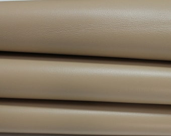 BEIGE Italian genuine Lambskin Lamb Sheep leather skins hides 0.5mm to 1.2mm