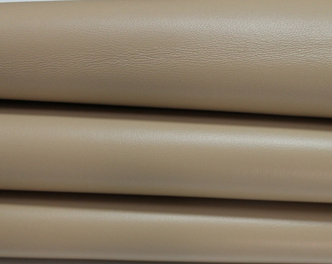 BEIGE Italian genuine Lambskin Lamb Sheep leather skins hides 0.5mm to 1.5mm