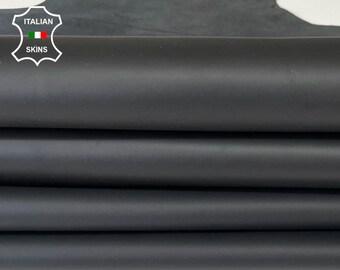 MATTE BLACK Italian Lambskin Lamb Sheep leather hide hides 2 skins total of  11sqf 1.0mm #A8140