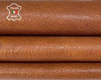 BRANDY BROWN ANTIQUED rough vegetable tan thick Italian goatskin goat leather skin skins hide hides 6+sqf 1.4mm #A8401