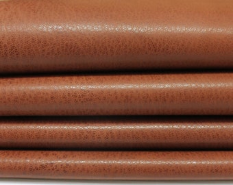 WASHED BROWN Rustic Vegetable Italian genuine Goatskin Goat leather skins hides 0.5mm to 1.2mm