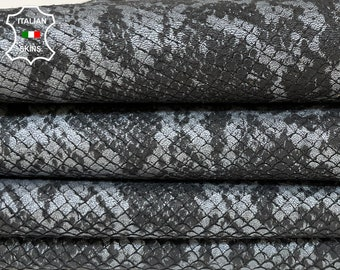 SILVER GRAY PYTHON snake textured scales soft Lambskin Lamb Sheep leather skin skins hide hides 7sqf 1.1mm #A8517