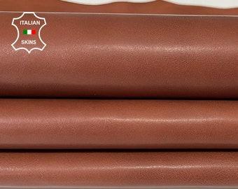 SIENNA BROWN natural look Italian Calfskin Calf leather skin skins hide hides 7+sqf 0.7mm #A7666