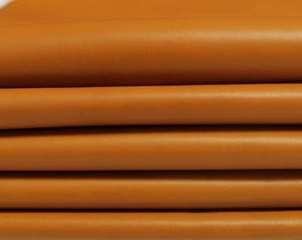 CUOIO TAN Italian soft Lambskin Lamb leather hide skin pelt skins hides