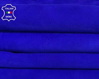 PACK OF 2 SKINS suede royal blue Italian goatskin goat leather skin skins hide hides 10sqf 1.0mm #A8002