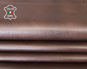 BROWN CHOCOLATE thin soft Italian lambskin sheep leather skin skins hide hides 7sqf 0.5mm #A7993