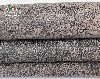 TAUPE ANTIQUED DISTRESSED beige stonewash vintage look Italian lambskin lamb sheep leather skin hide skins hides 5sqf 0.8mm #A8285