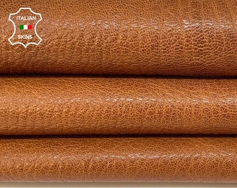 BRANDY BROWN ANTIQUED rough vegetable tan thick Italian goatskin goat leather skin skins hide hides 7sqf 1.3mm #A8402