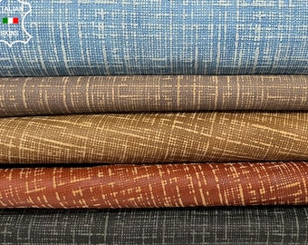 PACK 5 DIFFERENT COLORS textured distressed vintage look vegetable tan Italian goatskin goat leather pack 5 skins total 25sqf 0.7mm #A8346