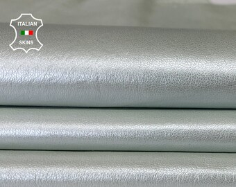 PEARLISED ICE GREY soft Italian Lambskin Lamb Sheep leather skin skins hide hides 6sqf 0.6mm #A7633