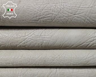 BONES RHINO GRAINY grain bone vegetable tan Goatskin Goat Leather 2 skins hides total 10sqf 1.4mm #A5008