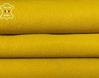 YELLOW VEGETABLE TAN thick Italian goatskin goat leather skin skins hide hides 6sqf 1.3mm #A8409