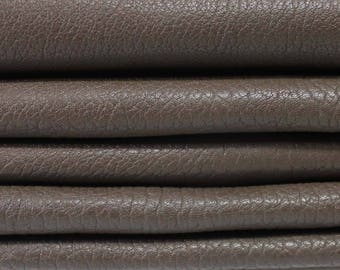 BROWN NATURAL GRAINY vegetable tan Italian genuine Lambskin Lamb sheep leather 5 skins hides total 26sqf 1.2mm #A3537