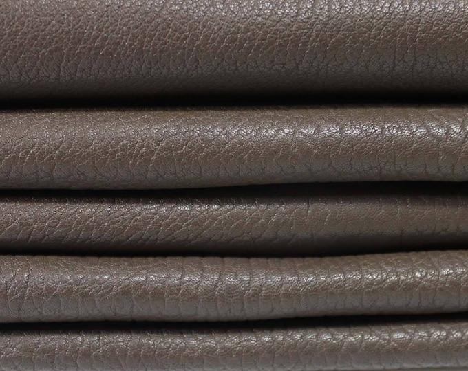 BROWN NATURAL GRAINY vegetable tan Italian genuine Lambskin Lamb sheep leather 5 skins hides total 26sqf 1.2mm #A3537