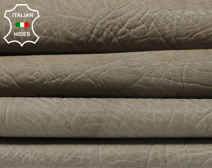 KHAKI GREEN Rhino grainy vegetable tan Lambskin Lamb Sheep leather 7 skins hides total 30sqf 1.4mm #A3804