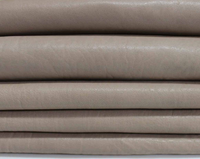 WASHED BEIGE Italian genuine lambskin lamb sheep leather 7 skins hides vegetable tan tanned total 48sqf #A3732