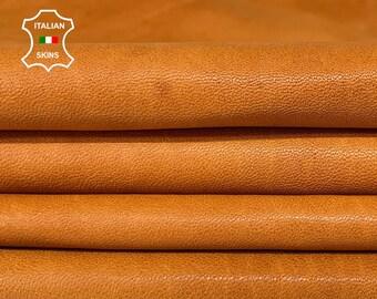 NATURAL SADDLE TAN vegetable tan soft Italian lambskin lamb sheep leather hides hide skin skins 9sqf 0.8mm #A8295