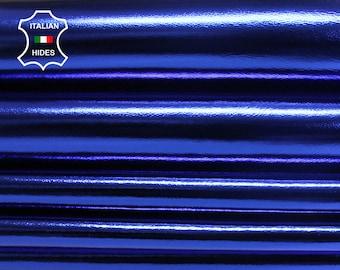 METALLIC ROYAL BLUE Italian lambskin Lamb Sheep leather skin skins hide 7+sqf 0.7mm