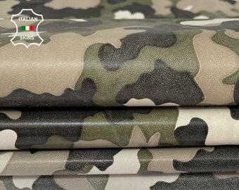 CAMO PRINT soft Italian lambskin lamb sheep leather pack 2 skins total  10sqf 0.8mm #A8160