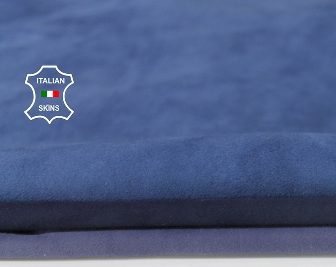 3 SHADES BLUE SUEDE soft Italian Lambskin Lamb Sheep leather material for sewing crafts 3 skins hides total 12+sqf 0.6mm #A6706