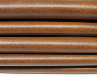CUOIO TAN BROWN Distressed soft Italian Lambskin lamb Sheep leather 2 skins hides total 12sqf 0.7mm