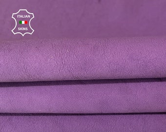 WASHED PURPLE WASHED antiqued coated Italian lambskin sheep leather skin skins hide hides 5sqf 1.2mm #A7990