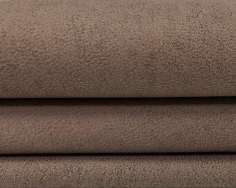 Italian Goatskin leather hides skins hide skin vtg NABUCK KHAKI BROWN 6sqf  #7616