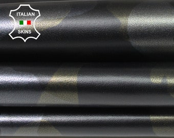 CAMO PEARLIZED Old Gold & Silver  army camouflage Italian Lambskin Lamb sheep leather skin hide skins hides 6-7sqf 0.8mm