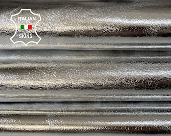 METALLIC SILVER strong Italian Goatskin Goat leather skins 0.5mm to 1.2 mm