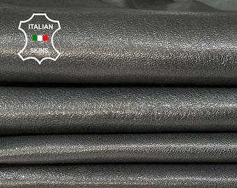 GUNMETAL GREY SHINY rough Italian Goatskin Goat leather 2 skins hides total 7sqf 1.0mm #A7399