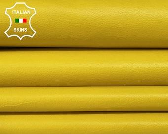 YELLOW soft Italian Lambskin Lamb Sheep Leather skins hides 5-7sqf 0.7mm #A7350