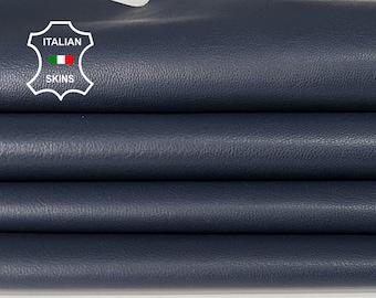 NAVY BLUE dark blue thin soft smooth Italian Lambskin Lamb Sheep Leather skins hides 6-8sqf 0.6mm #A7342