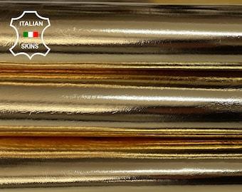 METALLIC GOLD strong Italian Goatskin Goat leather skins 0.5mm to 1.2 mm