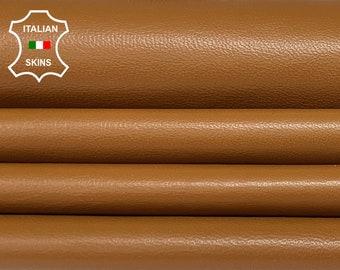 TAN soft Italian Lambskin Lamb Sheep Leather skins hides 8sqf 0.7mm #A7365