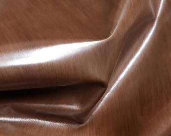 Italian Upholstery Cowhide Cow skin hide leather car seats handbags bags BRUSHED BROWN DISTRESSED 12+sqf