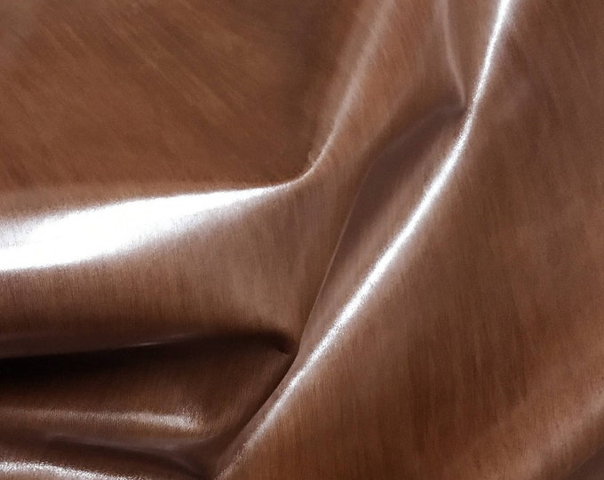 Italian Upholstery skin hide COWHIDE Cow leather car seats handbags bags BROWN DISTRESSED 9+sqf